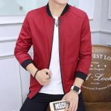 Spesifikasi Jaket Merah Jaket Pria Jaket Korea Style Baru