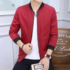 Beli Jaket Merah Jaket Pria Jaket Korea Style Terbaru