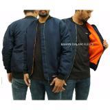 Beli Jaket Murah Bomber Pria Polos Biru Navy Best Seller Raja Clothing Dengan Harga Terjangkau