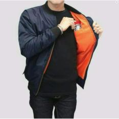 Jaket Murah Bomber Pria Simple-Navy Best Seller