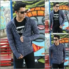Pusat Jual Beli Jaket Murah Sweater Rajut Pria Twotone Hitam Best Seller Jawa Barat