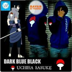 Jaket Naruto Kipas (Naruto Anime Ninja Sasuke Clan Uchiha) Best Seller - Blue/Black
