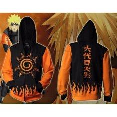 Jual Jaket Naruto Kyubi Seal Jaket Ninja Naruto Kakashi Sasuke Sakura Best Seller Black Orange Branded