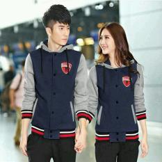 Jual Jaket Navy Grey Combi Couple Branded Murah