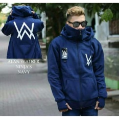 Jaket ninja alan walker kren pria - Navy - Biru tua