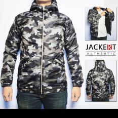 Jaket Parasut Army Loreng - Waterproof Windproof
