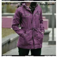 Jaket Parka Army Casual Untuk Wanita Terbaru Warna Ungu Purple