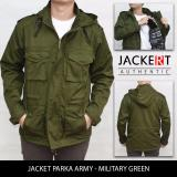 Jual Jaket Parka Army Military Green Jackert Ori