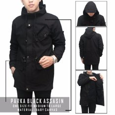 Jaket parka pria assasin ( black )