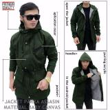 Beli Jaket Parka Assasin Hoodie Zipper Green Army