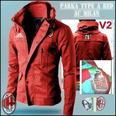 Jaket Parka Bola V2- AC milan-merah