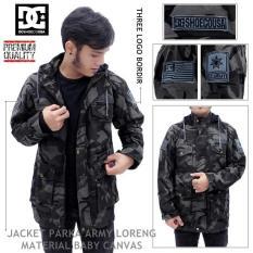 Jaket Parka Canvas Dc Army Loreng Import Termurah - A65ced