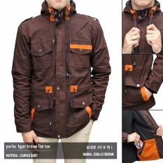 Jaket Parka Coklat List Tan Best Seller