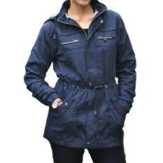 Jaket parka wanita topi lepas kanvas/Parka jaket cewek BBS