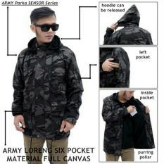 Harga Jaket Parka Loreng Pocket Army Yang Bagus