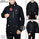 Beli Jaket Parka Pocket Hoodie Zipper Black Random House Asli
