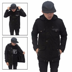 Jaket Parka Pria Full Black Best Seller