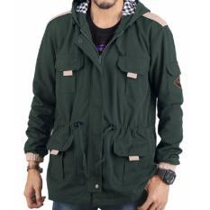 Pusat Jual Beli Jaket Parka Pria Kanvas Hoodie Jacket Tebal Casual Rnk 40 Hijau Jawa Barat