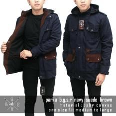 Review Pada Jaket Parka Pria Navy List Suede