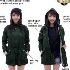 AMF jaket parka wanita hijau army series