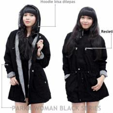 Review Jaket Parka Wanita Premium Baby Canvas Black Parka