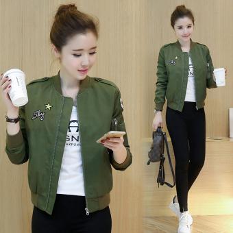 Pencarian Termurah Jaket Pendek Wanita Warna Hijau Tentara Model Korea (Tentara hijau) OE427FAAAQ3FCYANID-
