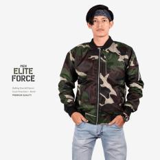 Jaket Pilot / Bomber Pria Wanita ELITE FORCE DARK ARMY Premium