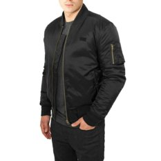 Jaket Pilot Bomber Waterproof - Black