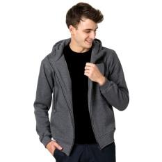 Beli Divajaya Shop Jaket Polos Pria Hoodie Zipper Sweater Abu Tua K Grey Murah