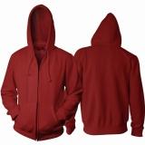 Promo Jaket Polos Maroon Hoodie Zipper Resleting Tidak Ada Merk Terbaru