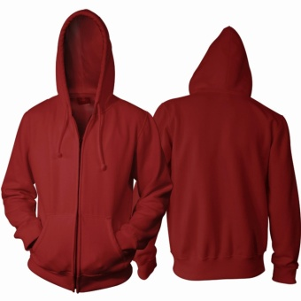 Review of Jaket Polos MAROON Hoodie Zipper (Resleting) anggaran terbaik -  Hanya Rp45.326 e6c96a57e0