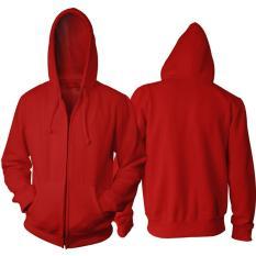 Toko Jaket Polos Merah Hoodie Zipper Resleting Dki Jakarta