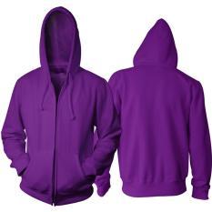 Harga Jaket Polos Ungu Hoodie Zipper Resleting Merk Tidak Ada Merk
