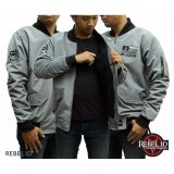 Jual Jaket Pria Bomber Abu Rebel Best Seller Blues Branded