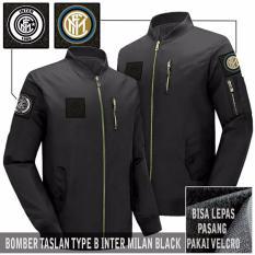 Jual Jaket Pria Bomber Attacker Type B Inter Black Lengkap