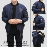 Jual Beli Jaket Pria Bomber Navy Bgsr Bestseller