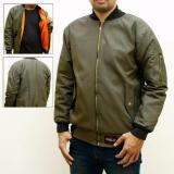 Review Jaket Pria Bomber Polos Hijau Army Rebel Best Seller