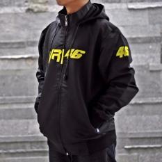 Jaket Pria Murah VR46 Logo Bordir - Hitam Good Seller