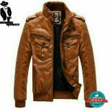 Harga Jaket Pria Semi Kulit Sintetis Coklat Leather Buatan Garut Asli Baru Murah