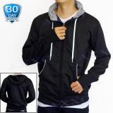 Jual Axxo Jaket Pria Sweater Hoodie Zipper Polos Jaket Sweater Pria Ax004 Hitam Di Jawa Barat