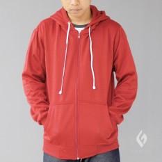 Harga Jaket Pria Sweater Polos Hoodie Zipper Sleting Best Seller