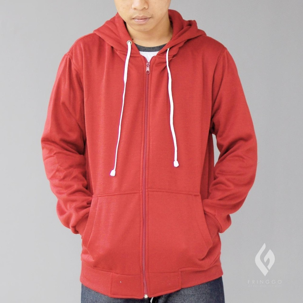 Jaket Pria Sweater Polos Hoodie Zipper Sleting Best Seller
