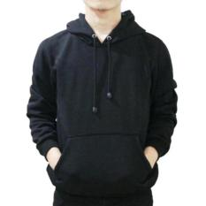 Harga Jaket Pria Sweatshirt Zipper Korean Hoodie Polos Hitam R2Gstore Asli Jaket Pria