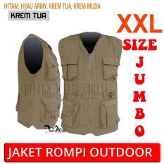 Jaket Rompi Army Outdoor Keren (Motor- Mancing- Safety- Militer- Airsoft- Hunting)