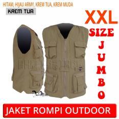 Jaket Rompi Army Outdoor Keren Ukuran XXL (Motor, Mancing, Safety, Militer, Airsoft, Hunting)
