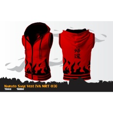 Jaket Rompi Hoodie Zipper Anime Naruto Mode Sage (VA NRT 03) Best Seller - Red