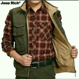Spesifikasi Jaket Rompi Jeep Outdoor Vest Original Import Warna Green Army Bagus