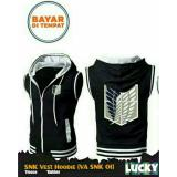 Beli Jaket Rompi Vest Hoodie Anime Attack On Titan Black Best Seller Di Jawa Barat