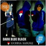 Jaket Sasuke Uchiha Dark And Blue Hoodie Zipper Best Seller Di Jawa Barat