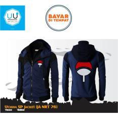 Harga Jaket Sasuke Uchiha Double Zipper Hoodie Anime Naruto Ja Nrt 76 Navy Black Jawa Barat